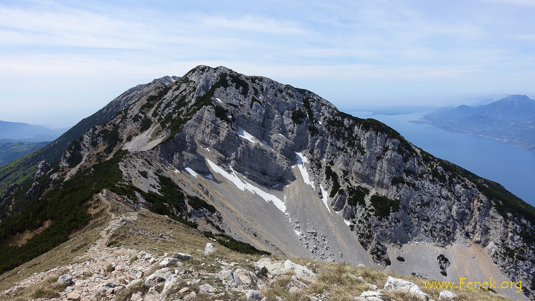 auf der Cima delle Pozzette mit Blick auf die weiteren Gipfel....