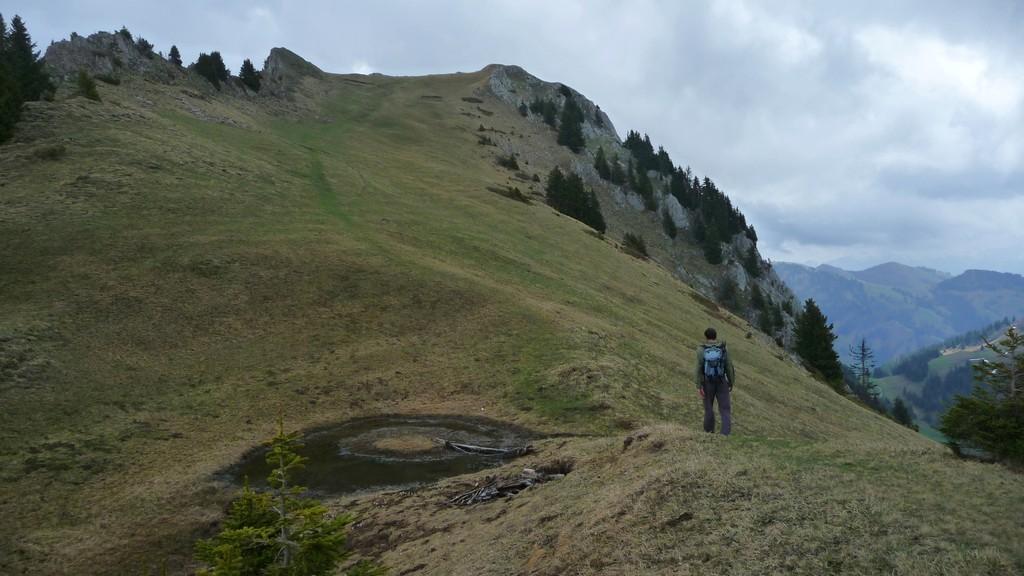 vor dem Gipfel Rochers des Rayes