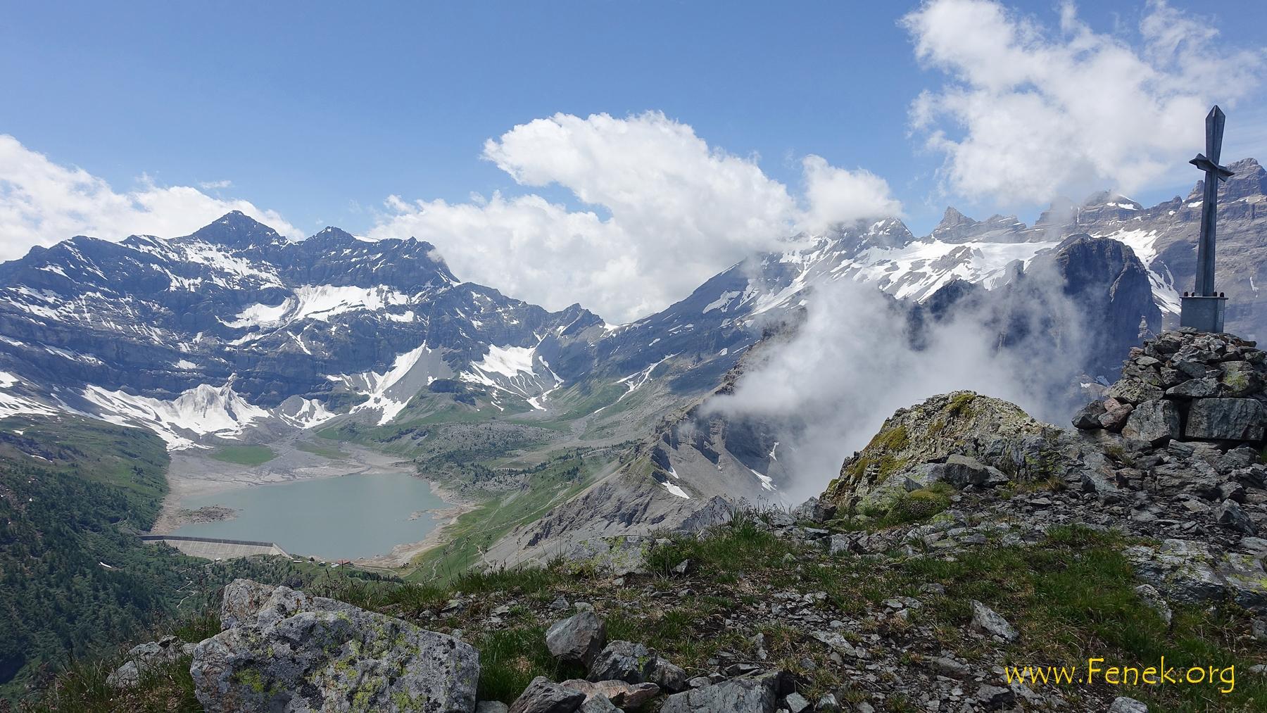 Lac de Salanfe - Dent du Midi in den Wolken