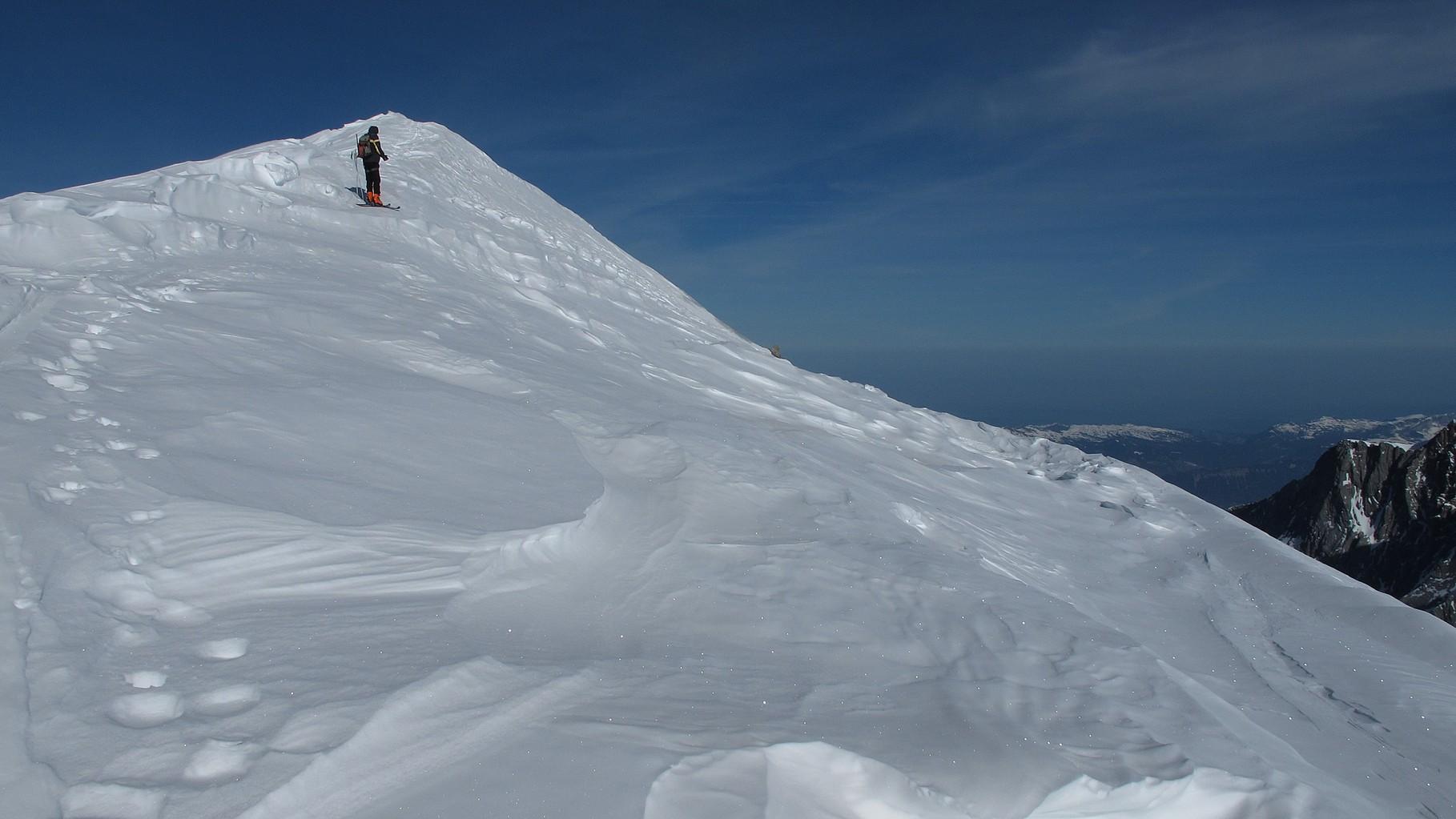 Martin kurz unter dem Gipfel