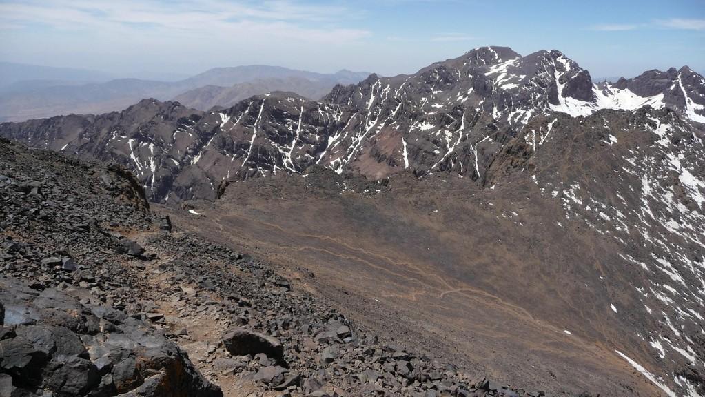 wir befinden uns auf den letzten Metern zum Gipfel