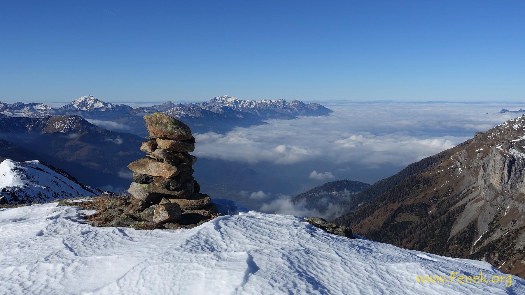 Nebelmeer über Rhonetal und Genfersee