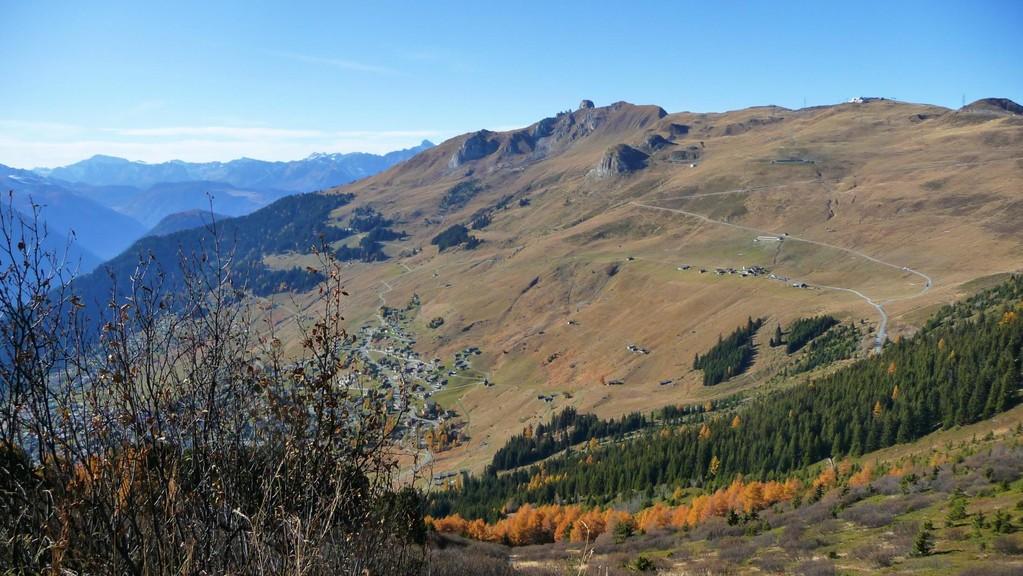Blick zum Pierre Avoi und Les Planards