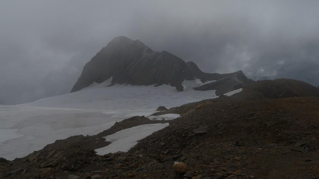das Rothorn, der Gletscher ist zurückgewichen