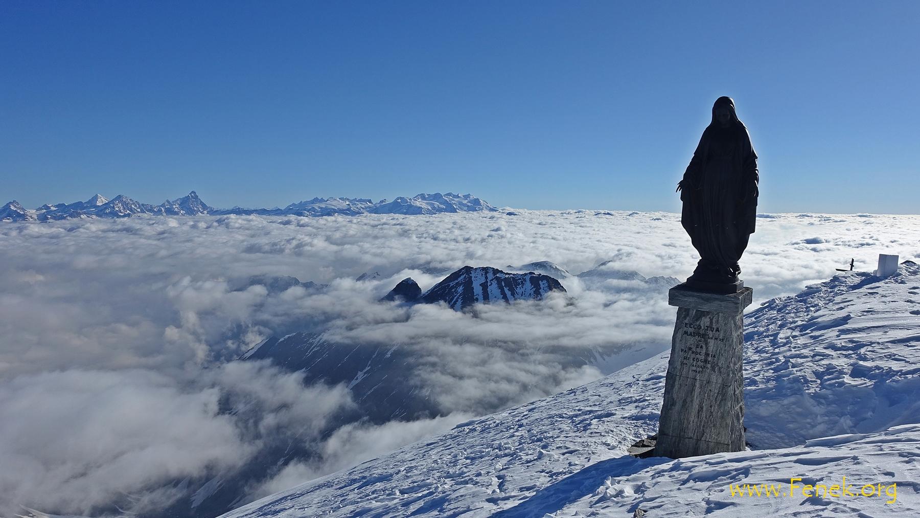 welch ein Ausblick (Monte Rosa im Hintergrund)