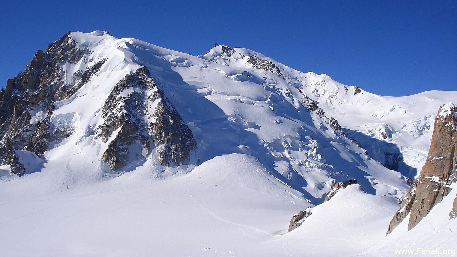 Mont Blanc du Tacul vor uns....