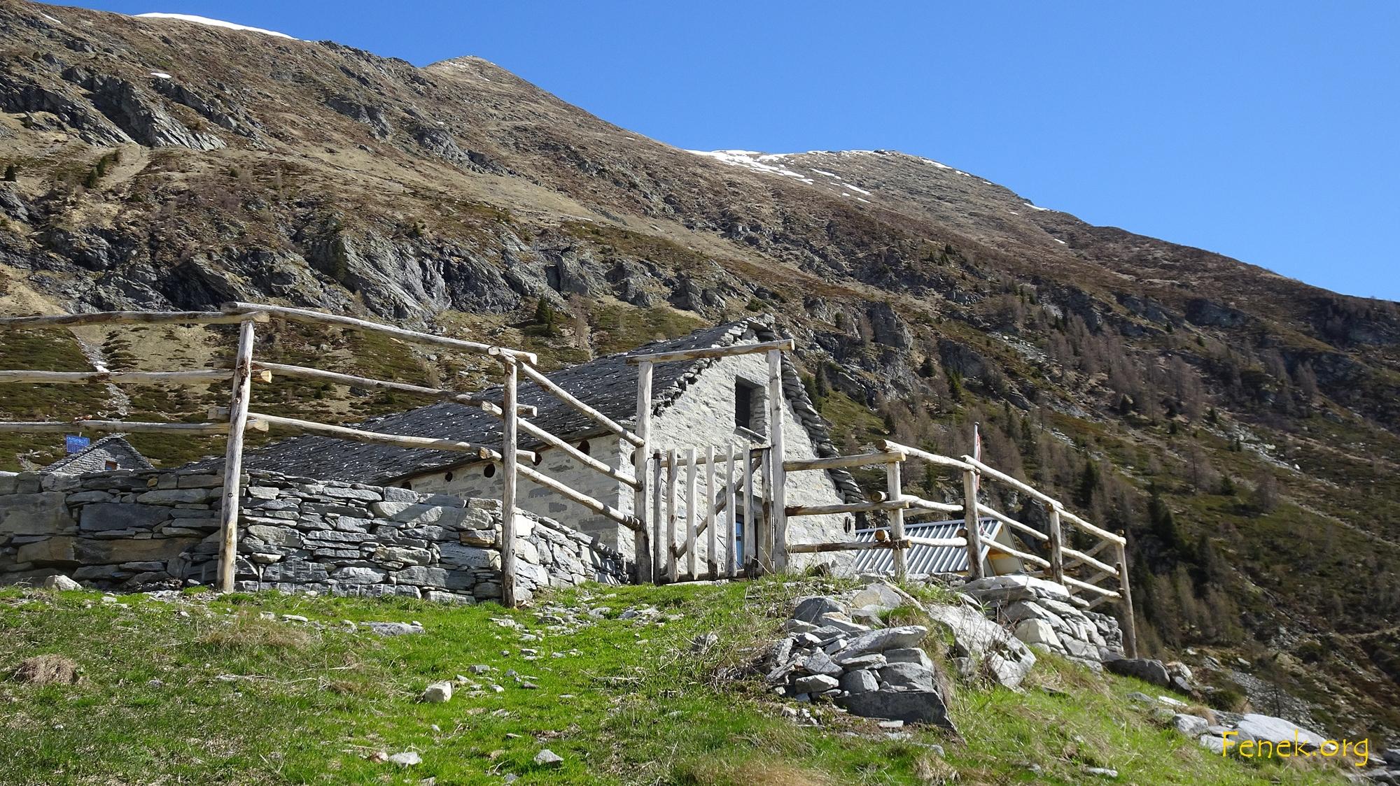 Alpe di Porcaresc mit Gipfel Pianca