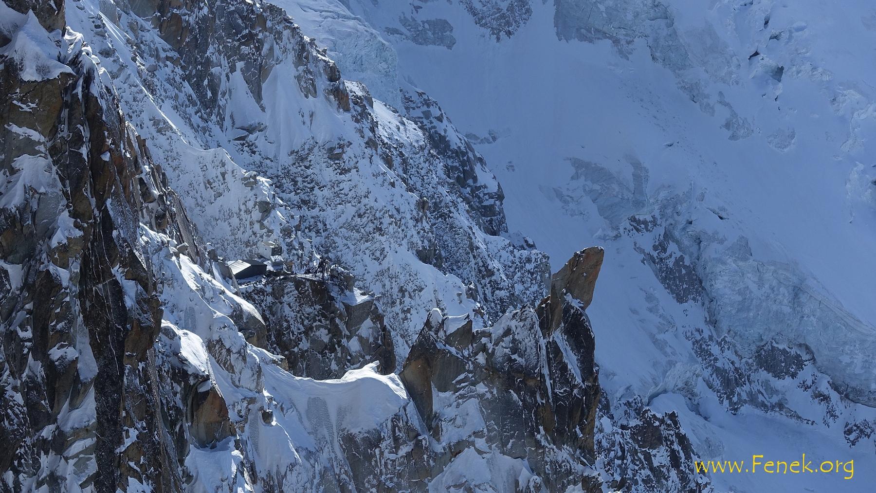 Refuge des Cosmiques - hier habe ich übernachtet vor der Besteigung zum Mont Blanc