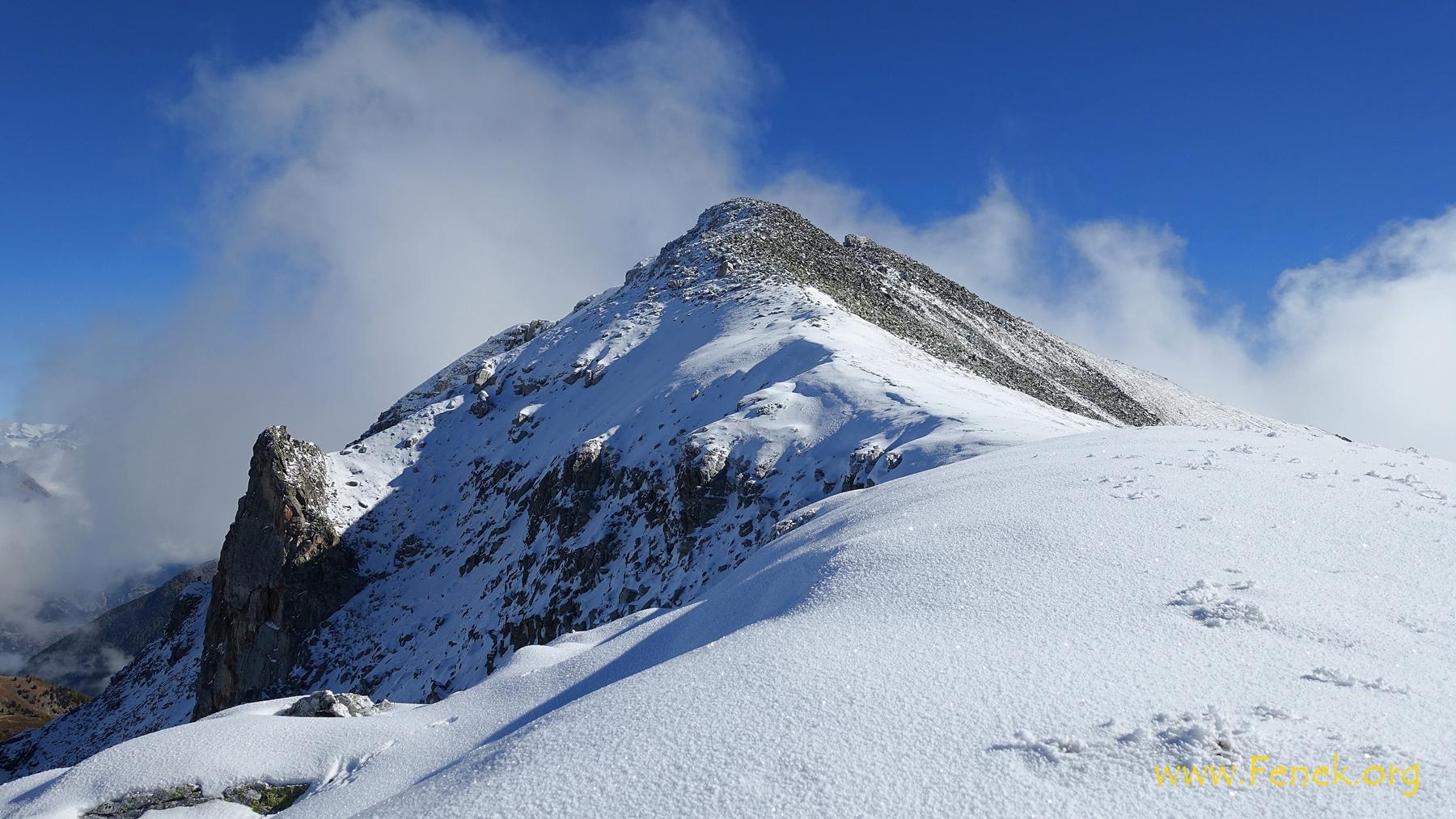 Schlussaufstieg zum Gipfel