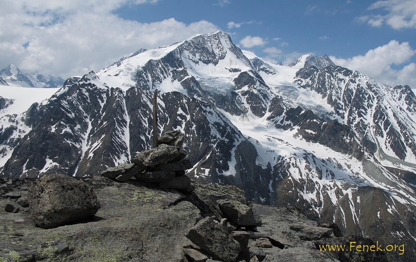Gipfelsicht zur Pigne d'Arolla