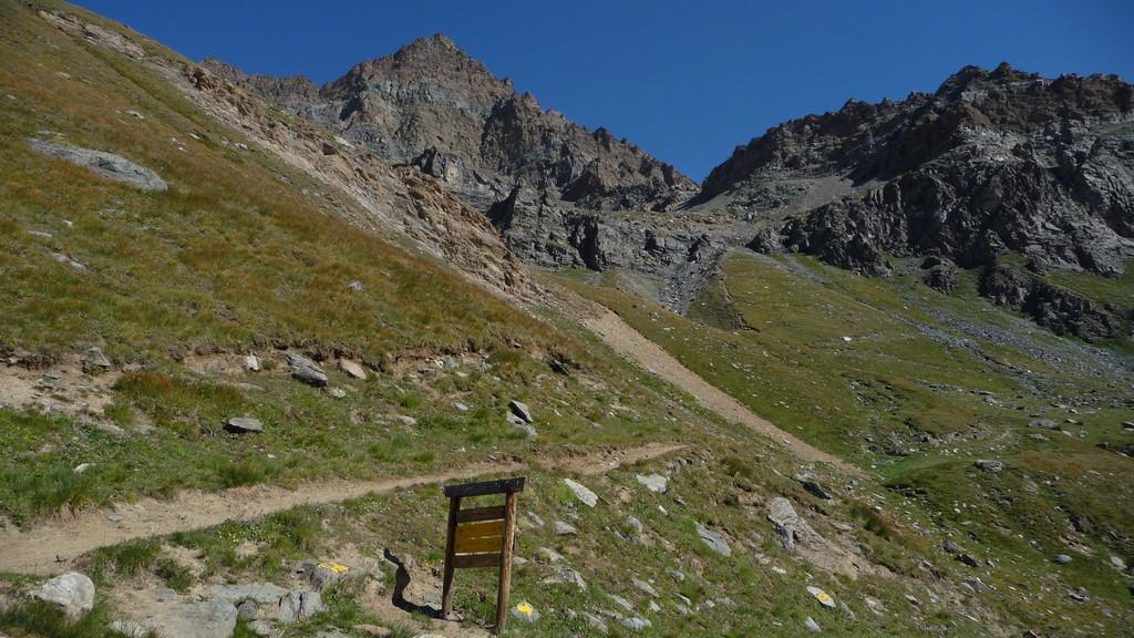 meine heutigen Ziele - Punta Rossa und Cresta del Lauson