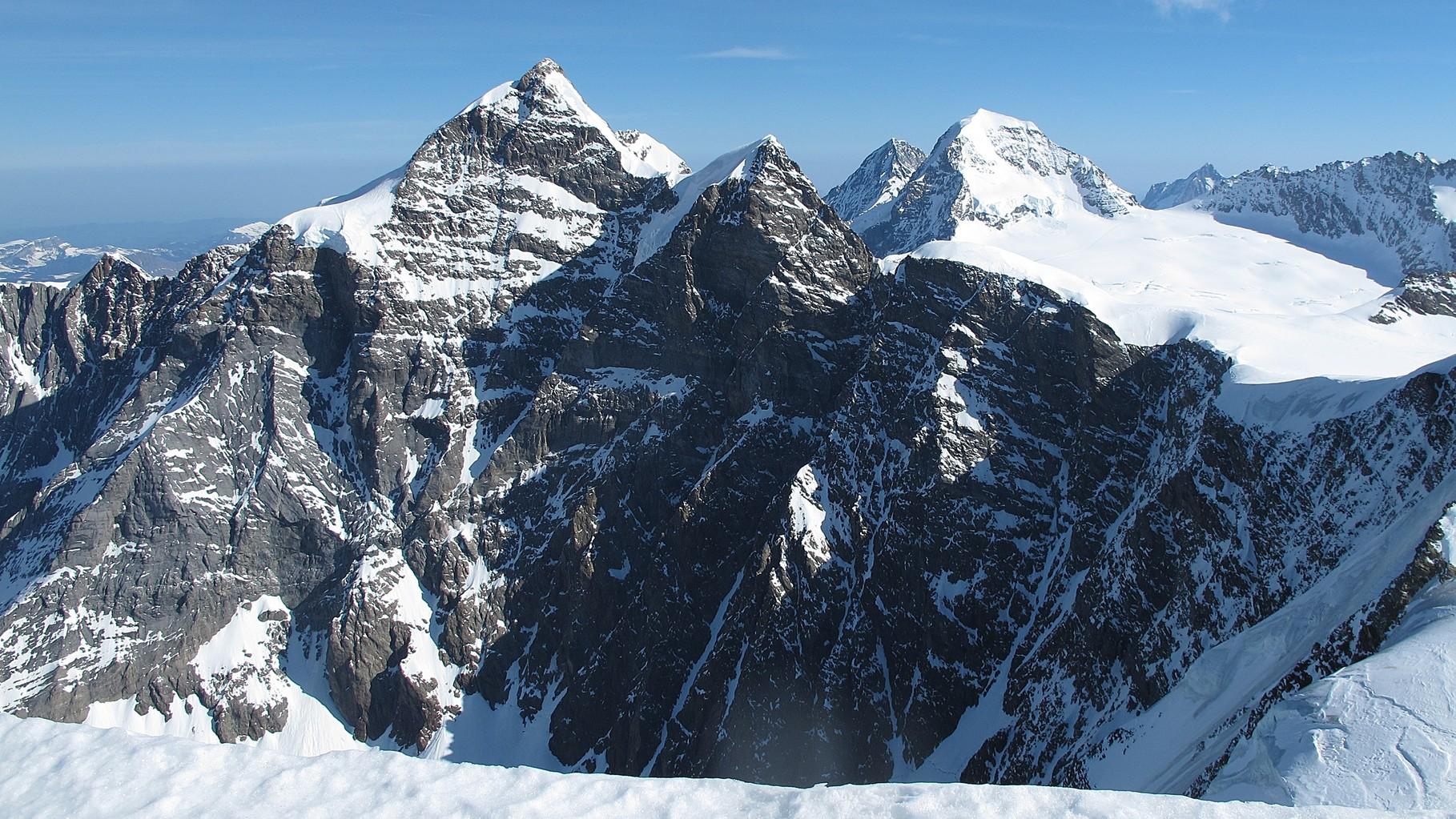 Jungfrau so nah.... dahinter Mönch und Eiger