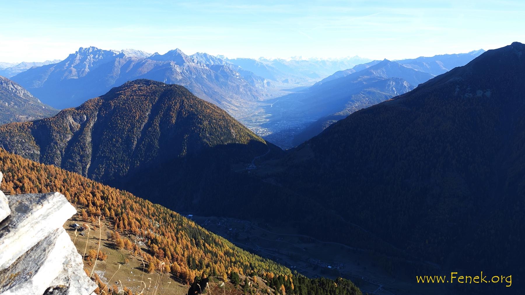 Col de la Forclaz und Mont de l'Arpille ;-) dahinter das Rhonetal