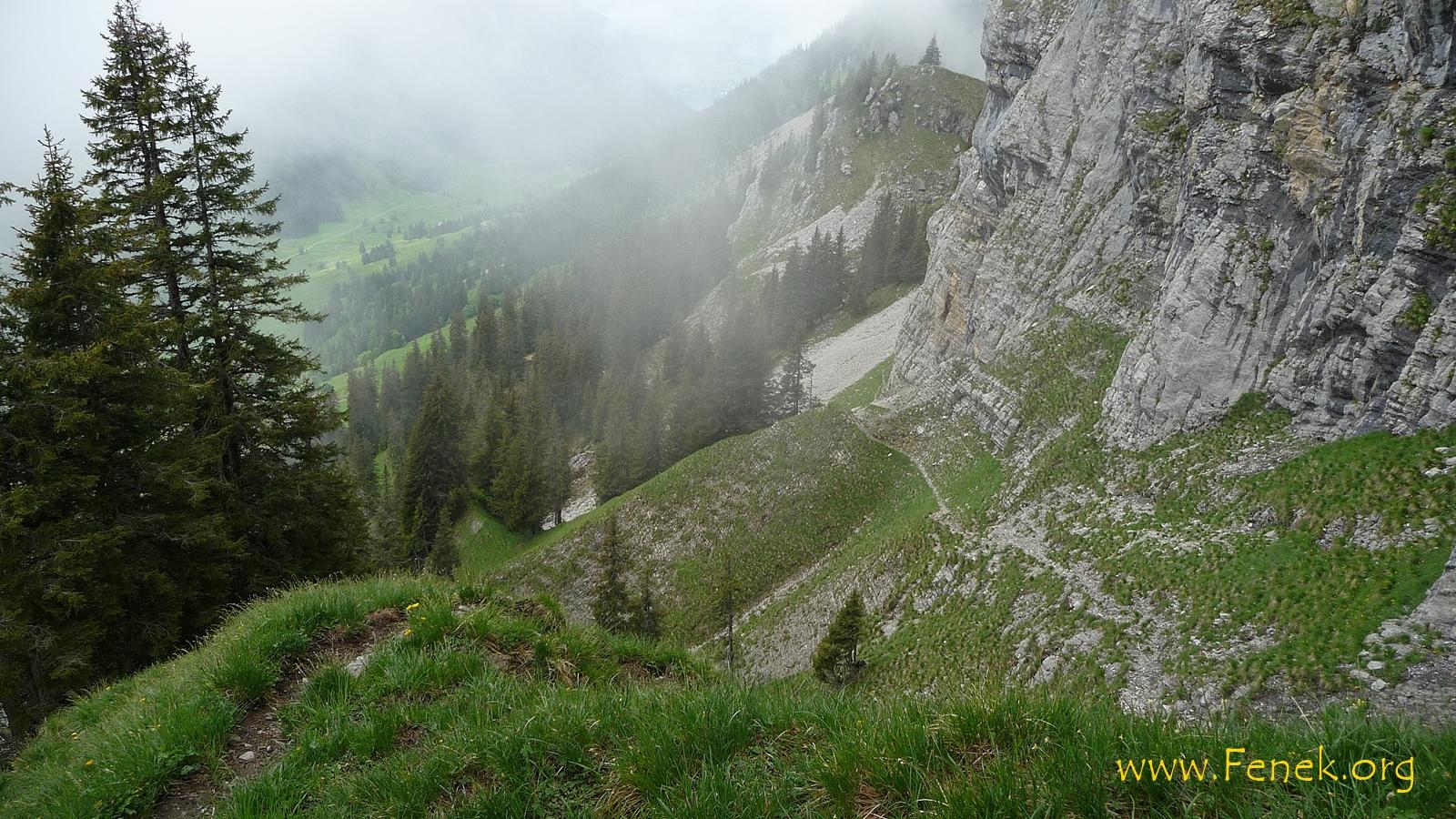 Traversierung im steilen Gelände