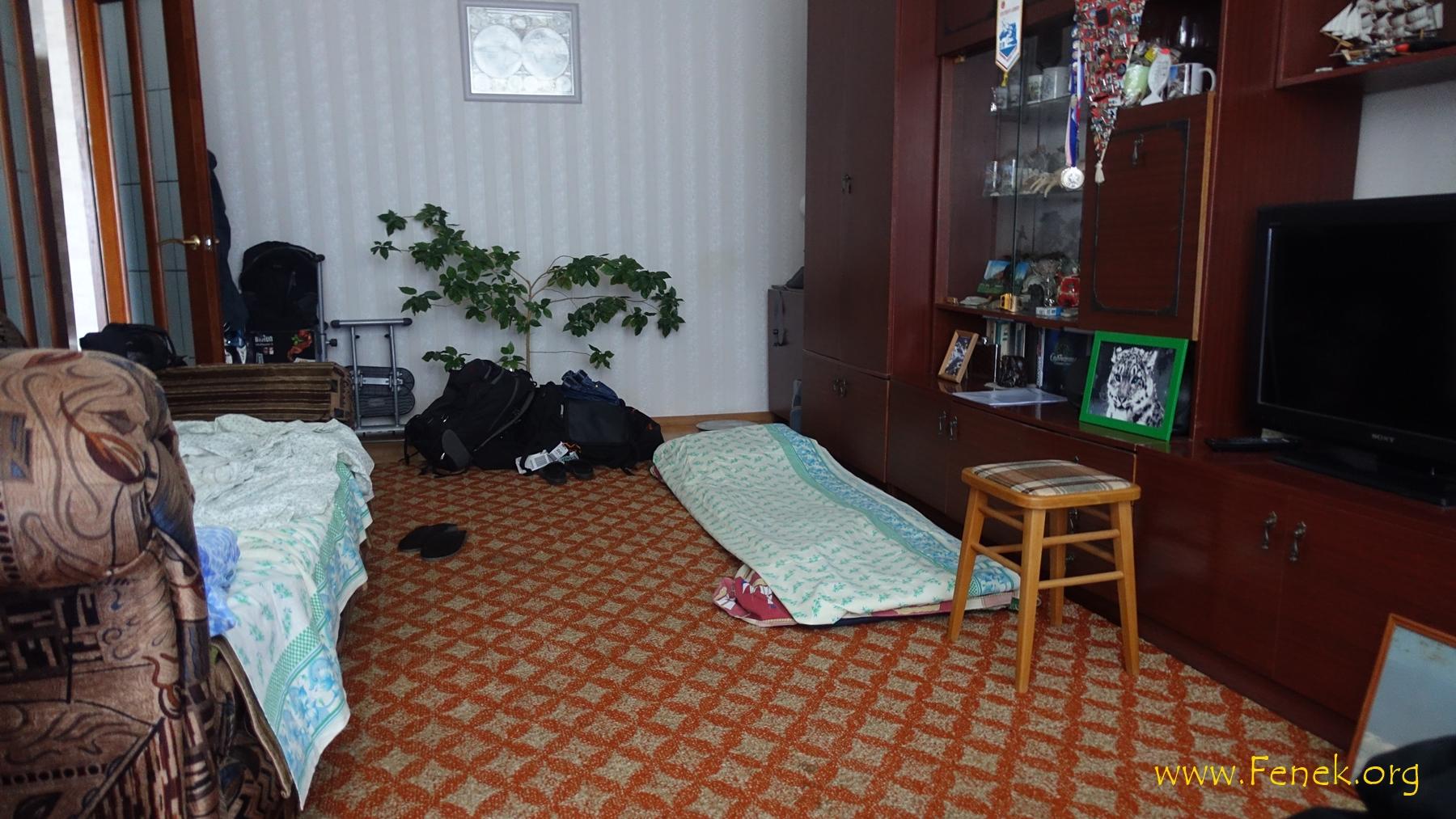Unterkunft in der Wohnung unseres Bergführers