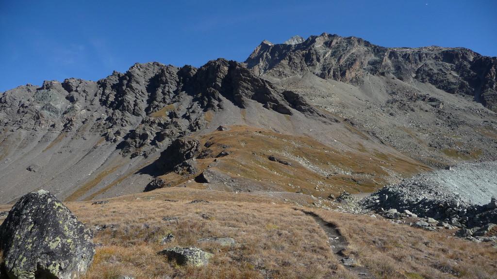 auf dem Col du Tsofeiret oben die La Ruinette