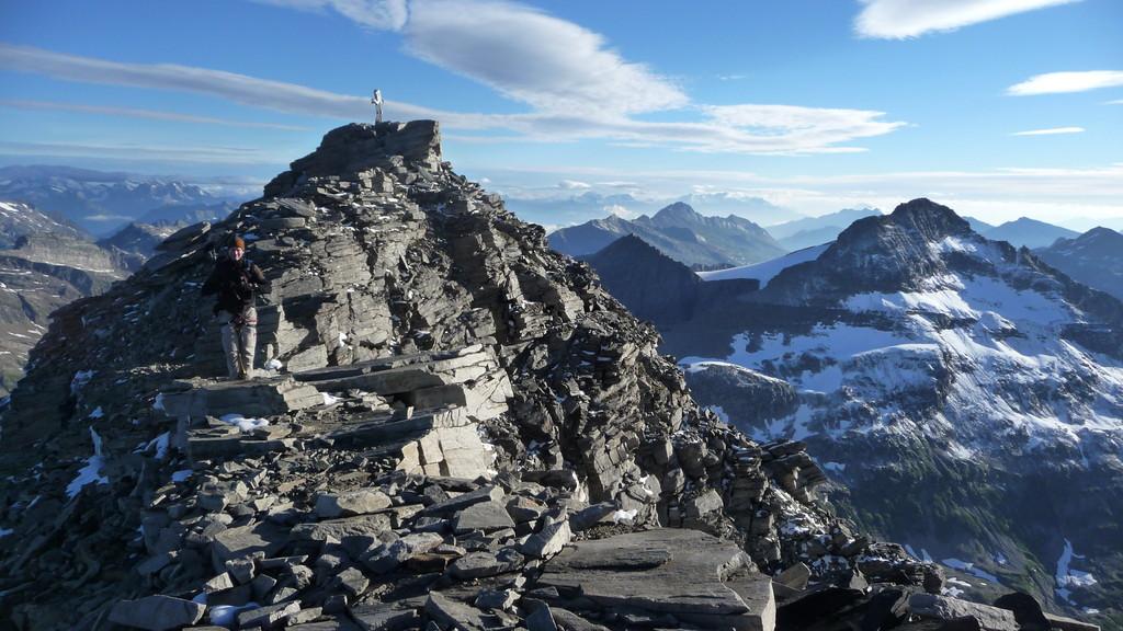 der Gipfel in Griffnähe...!