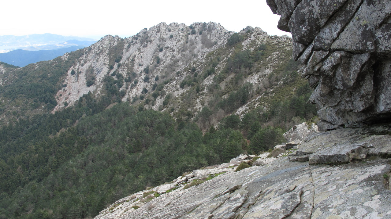 die Schlüsselstelle - steile und schräge Platte