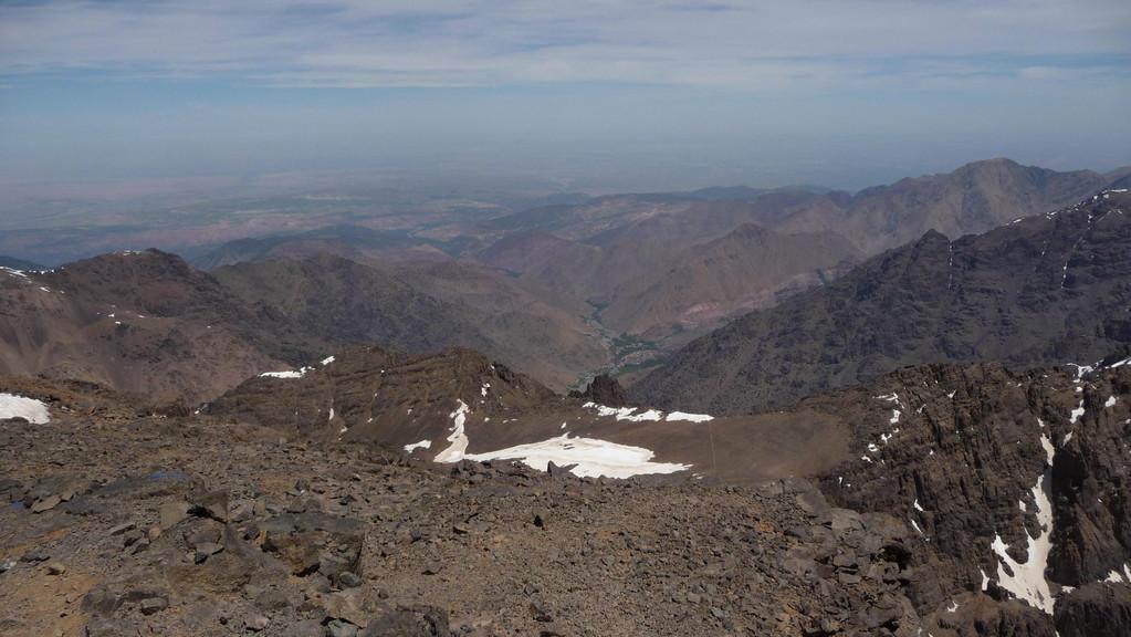 Blick nach Norden ins Tal