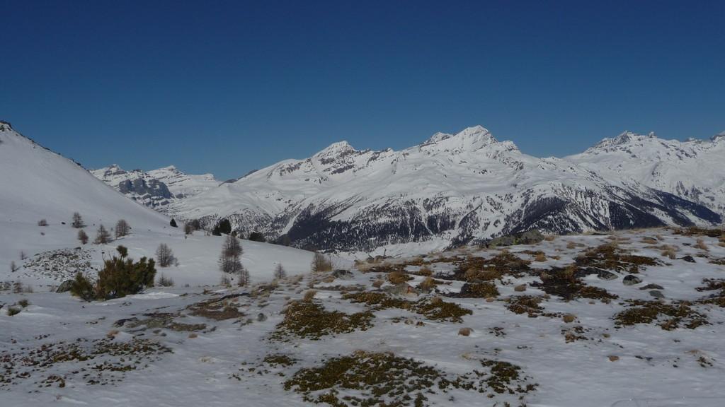 Blick zu den Bernern Balmhorn und Co.....