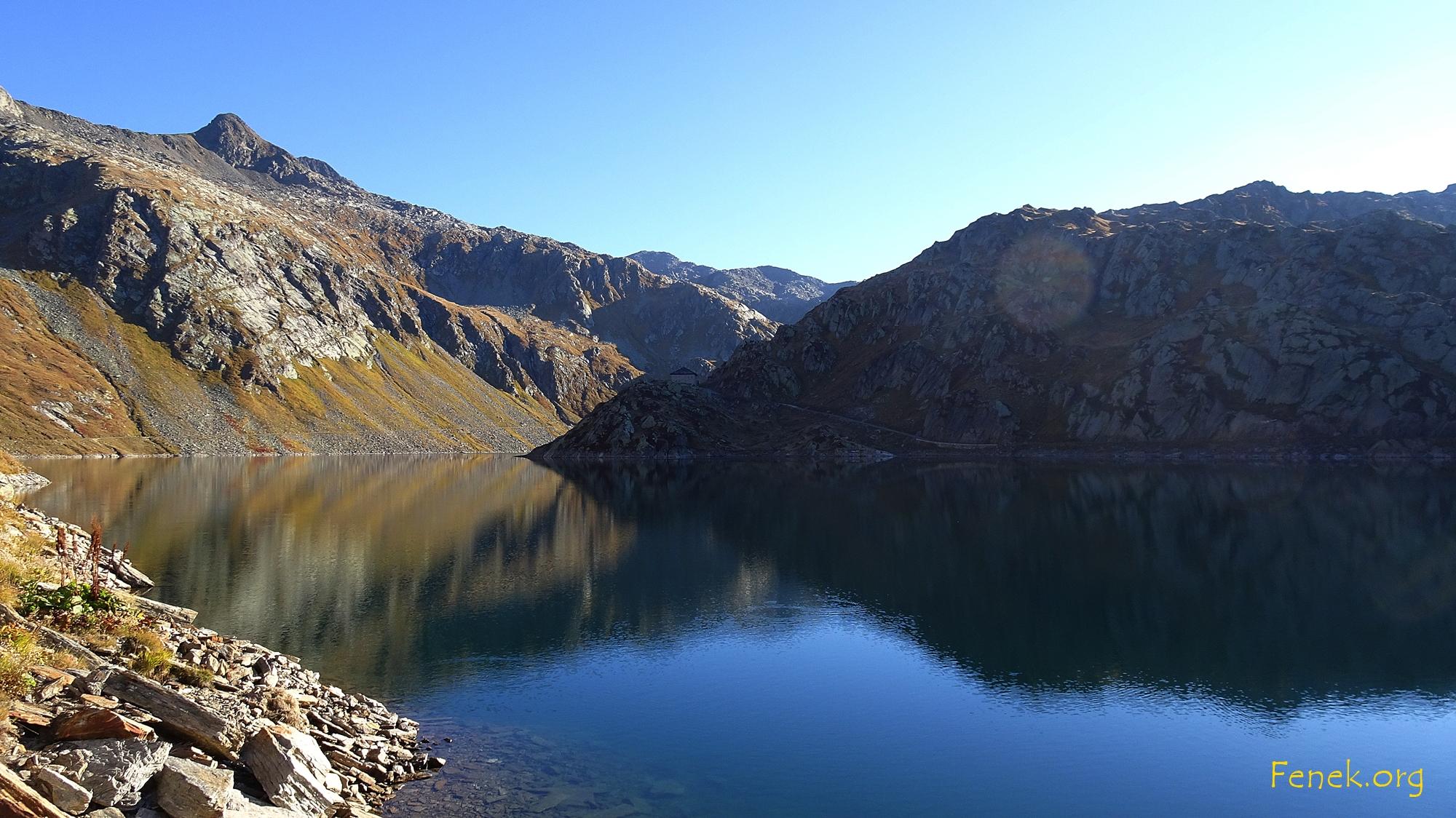 Der Lago della Sella - links oben ist der Gamsspitz zu sehen