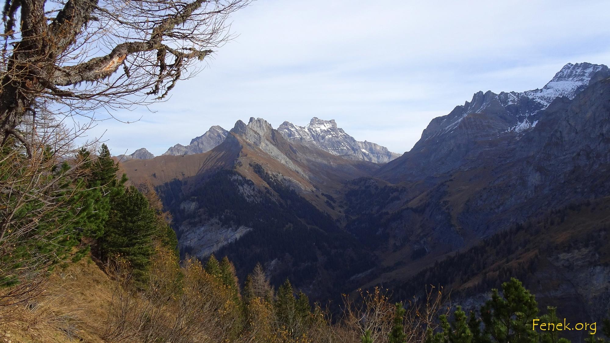 Blick Richtung Arête L'Argentière