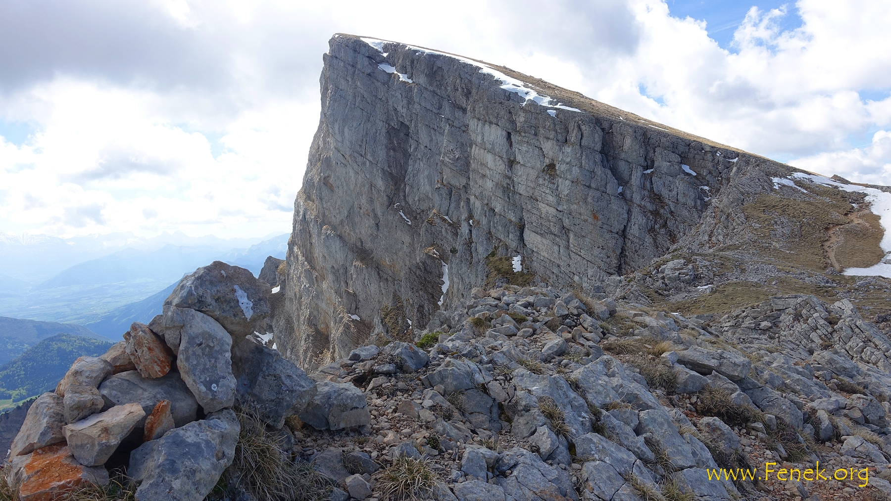 erster Blick zum Gipfel