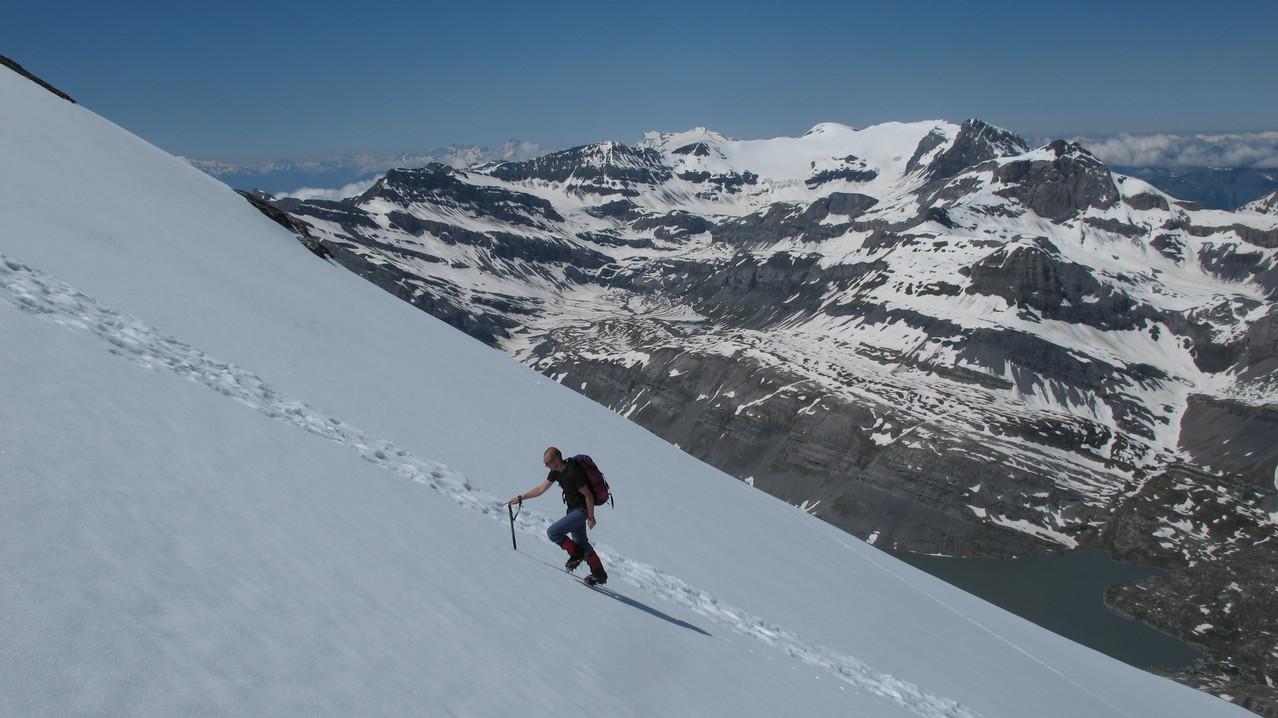 Alex im Gipfelhang