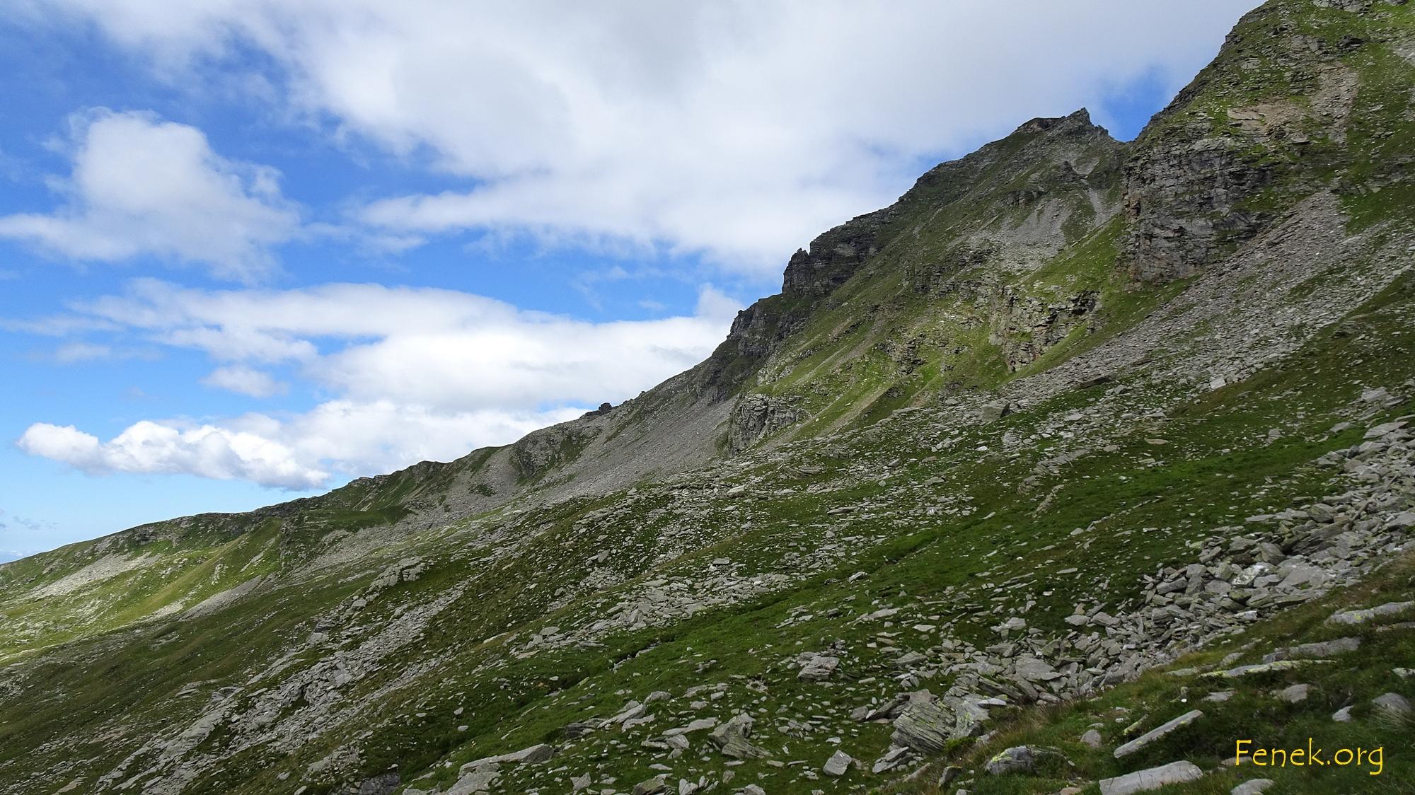 Ostseite wo der Aufstieg verläuft
