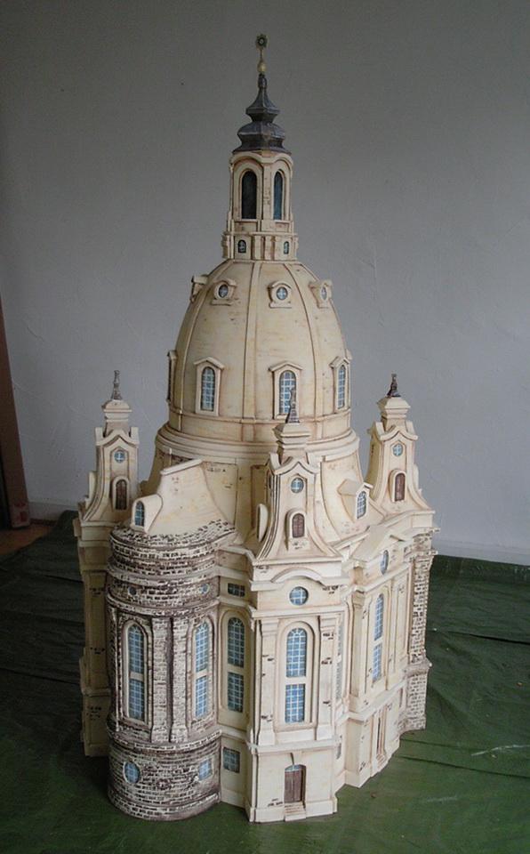 Modell der Frauenkirche Dresden als Puzzle, Postbank
