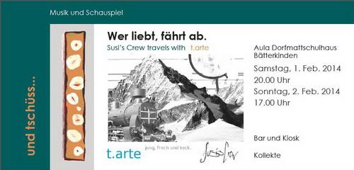 Wer liebt, fährt ab; Susi's Crew travels with t.arte (2014)