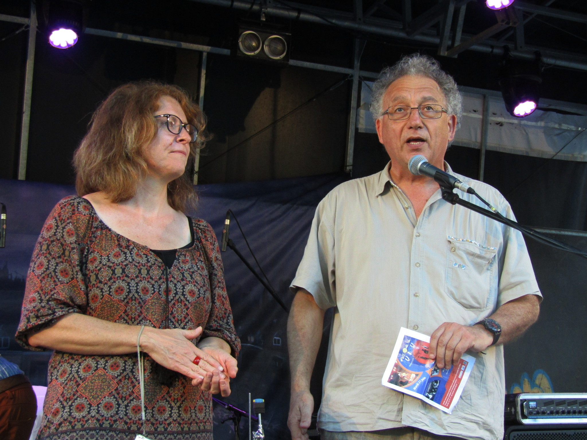 Armelle Fernandez et Jacques Tene, maire de Saint-Lys