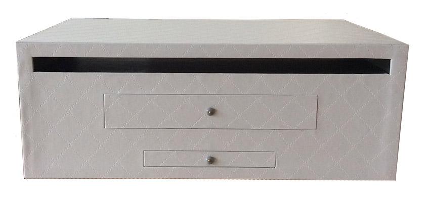 Meuble rangement box télévision face