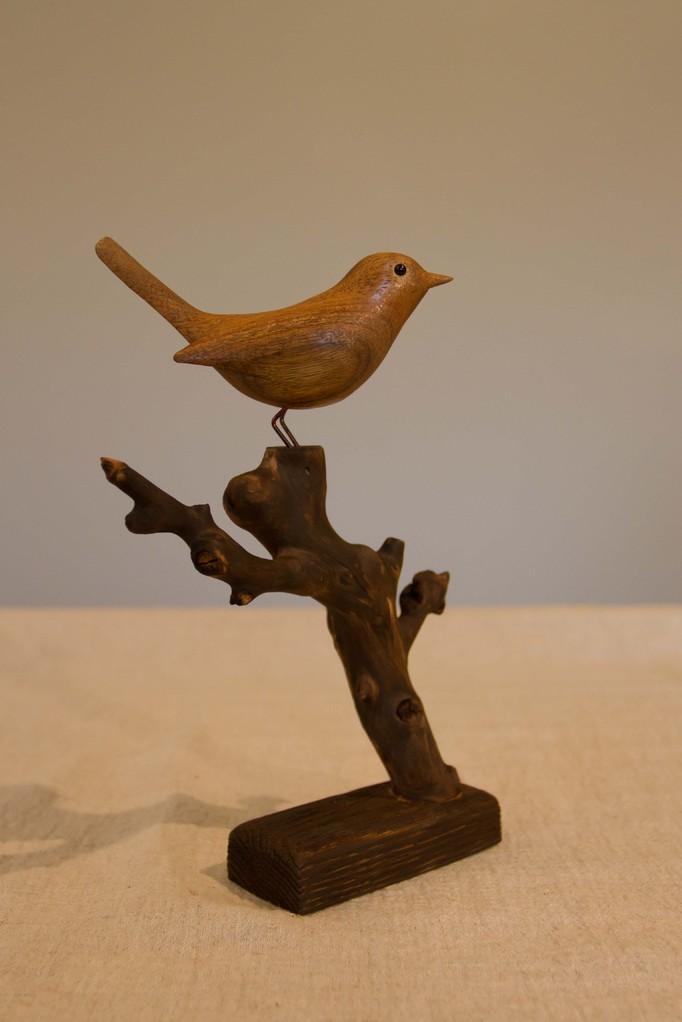 oiseau de bois: Fauvette en noyer