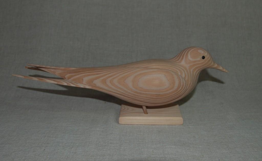 Sculpture d'oiseau en bois:sterne