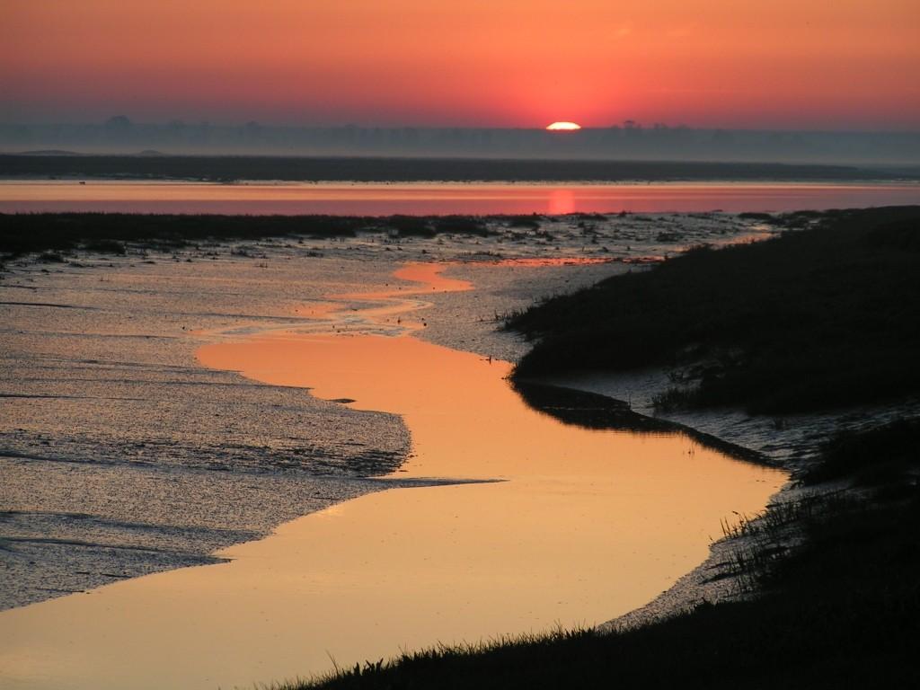 lever de soleil sur la baie de Somme