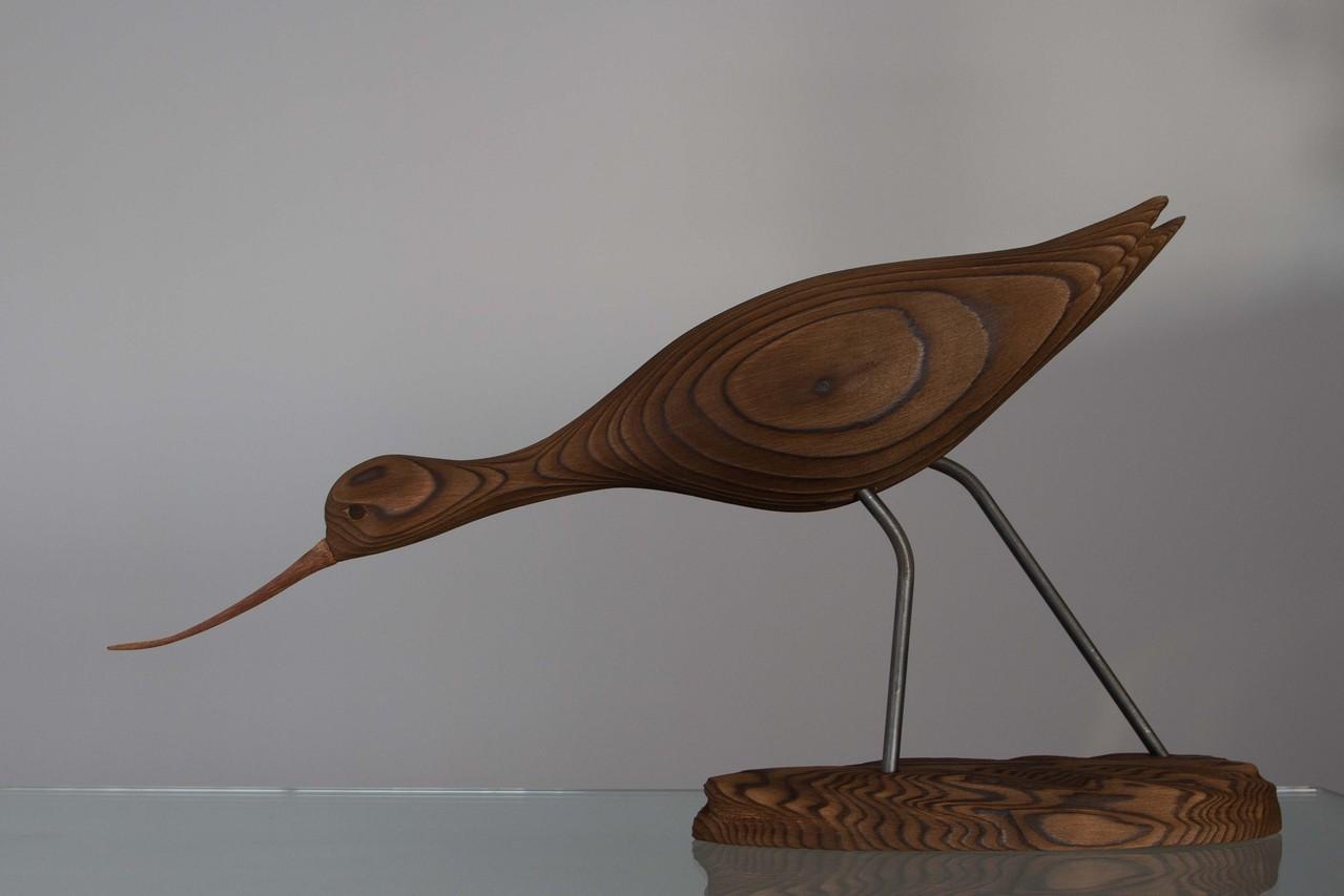 Oiseau en bois: avocette
