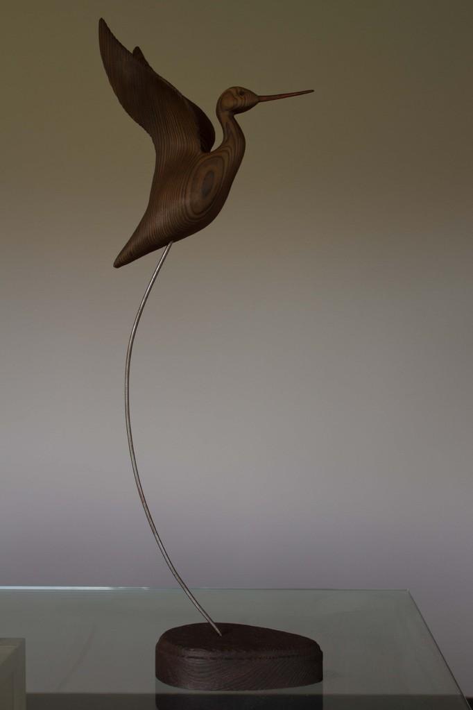 oiseau de bois:Chevalier en vol ailles hautes
