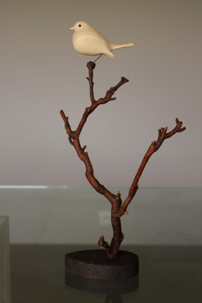 oiseau de bois: rouge gorge tilleul