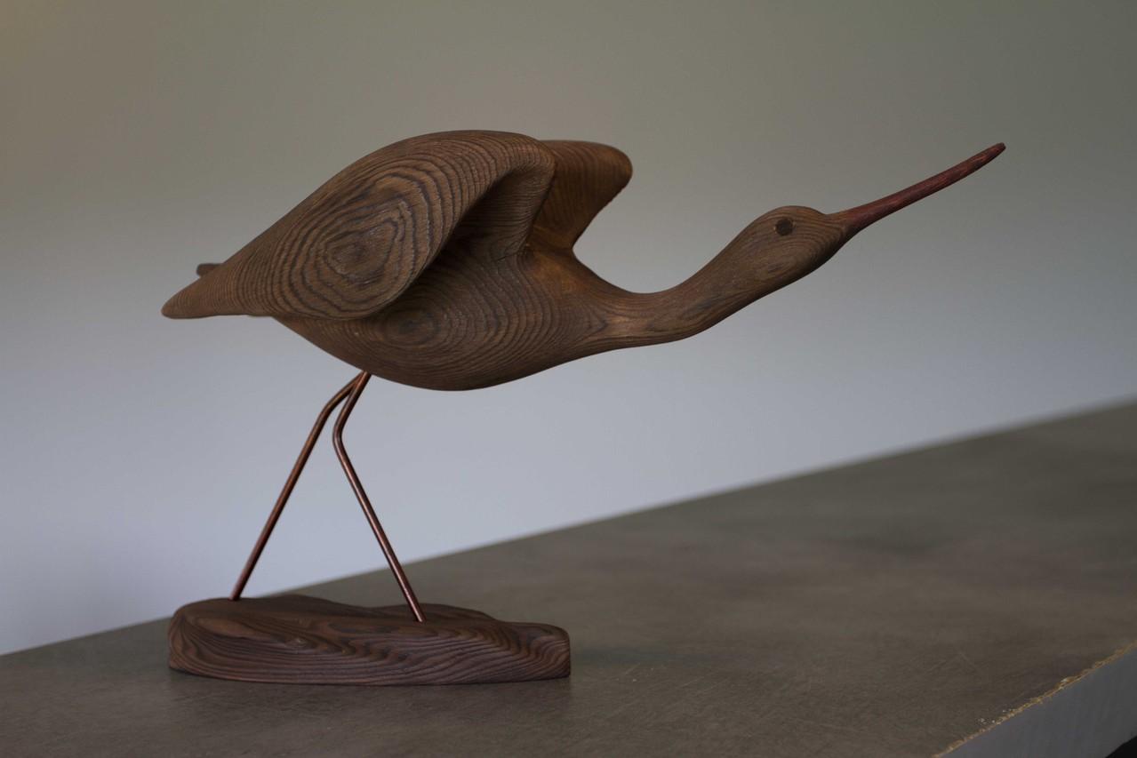 oiseau de bois: chevalier à l'envol