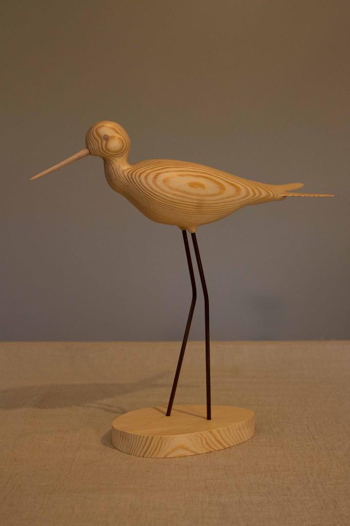 oiseau de bois: echasse blanche (sapin du nord rouge)