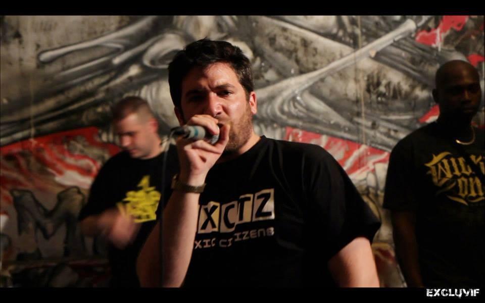 Toxic-Citizens Txctz - réalisation des tee-shirts de scène pour les concerts