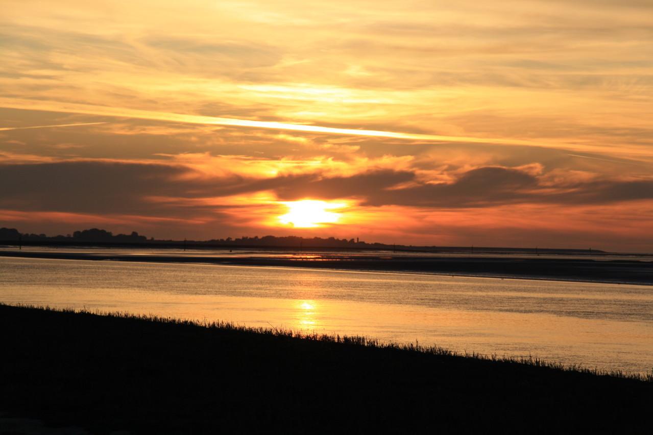 Soleil couchant sur la Baie de Somme
