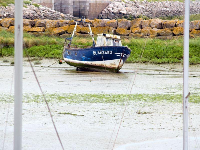 Bateau de pêche dans le port du Crotoy