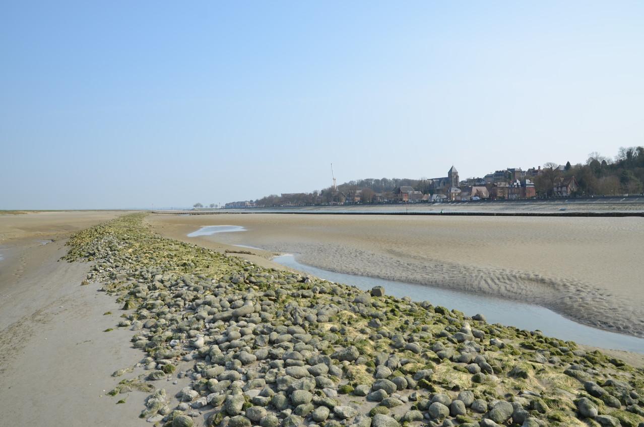 Vue de la ville de Saint Valery depuis la Baie de Somme (Photo Yves Cabuy)