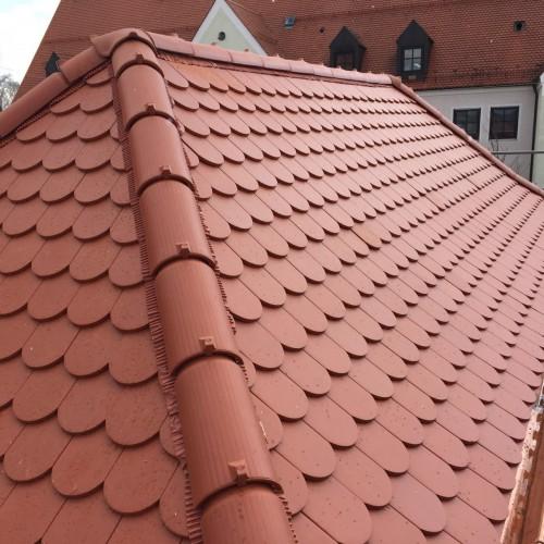 Klassische Dacheindeckung Ziegeldach
