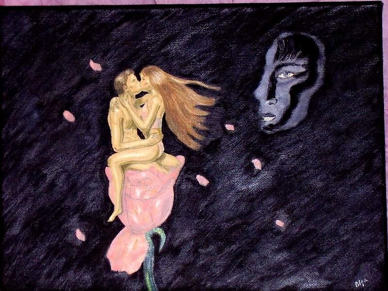 The Kiss,30 x 40 cm oil, canvas
