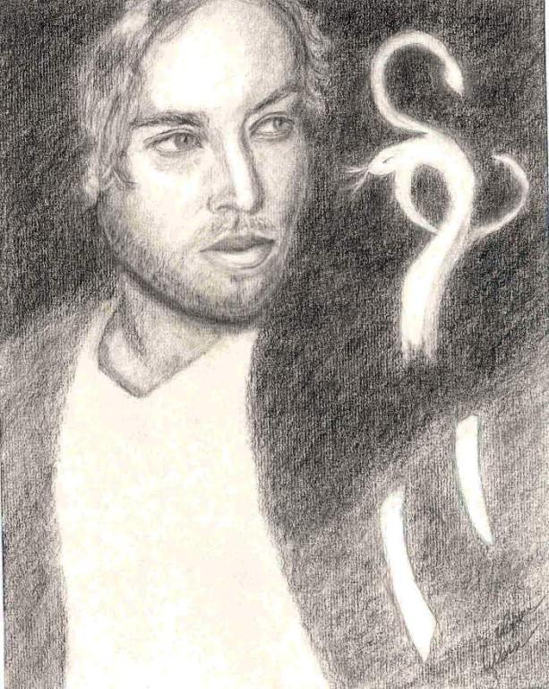 Intervista,12 x 15 cm drawing in pencil