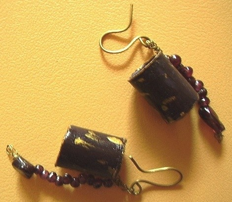 result of meditations,earring,garnet