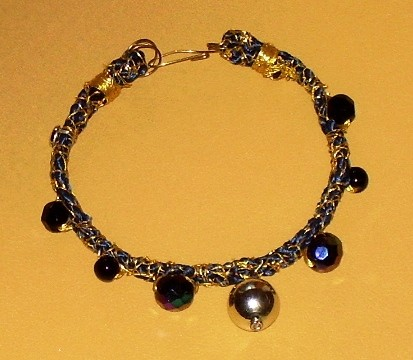 tribute,bracelet,mixed media,gold-auric